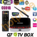 Media Player MINI PC smart TV box FULL HD, 1GB DDR3, 8 GB, Wi-Fi, Android, CS918