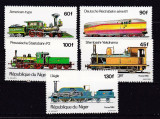 Niger  1980  trenuri  MI 707-711    MNH  w26, Nestampilat
