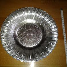 Farfurie decorativa metalica