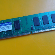 2GB DDR2 Desktop, 1x2GB, Brand Silicon Power, 800Mhz, PC2-6400, CL5 - Memorie RAM