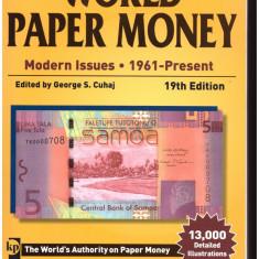 CATALOG BANCNOTE-WORLD PAPER MONEY-EDITIA 19-1961-PRESENT.