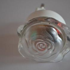 Lampa de veghe copil / Lampa veghe sub forma de trandafir in 3 culori - Lampa veghe copii, Alb