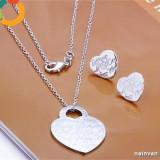 "Set bijuterii inscriptionat ""Tiffany"" (colier + pandantiv + cercei) argint 925 - Set bijuterii argint"