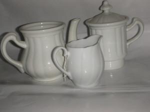 Superb set vechi pentru ceai - ceramica Majolica Schlagenwald ! De colectie !