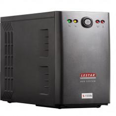 LESTAR S-1550s AVR 2xIEC+2xSCH USB BL, 1500VA, 900W - UPS