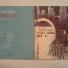 DISC VINIL - FRANCK BAUM/VRAJITORUL DIN OZ - Muzica pentru copii electrecord