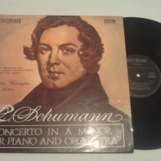 DISC VINIL - SCHUMANN/CONCERT IN A MINOR, electrecord