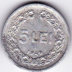 RPR 5 lei 1949 - Moneda Romania