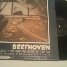 DISC VINIL - BEETHOVEN/CONCERTUL NR 5 PENTRU PIAN SI ORCHESTRA - Muzica Opera electrecord