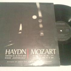 DISC VINIL - HAYDN/MOZART - Muzica Opera electrecord