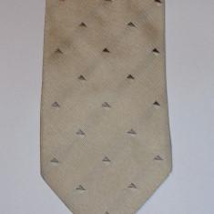 Cravata din matase gri argintiu Armani Collezioni originala, Geometric