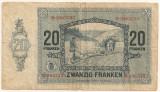 LUXEMBURG 20 Francs Franci 1929 U