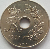 Moneda 25 Ore - DANEMARCA, anul 1967 *cod 1464, Europa