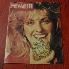 Revista Femeia - anul XLIII ( serie nou ) nr 4 aprilie 1990 / 32 pagini !!!