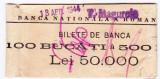 Banderola 100 bucati bancnote 500 lei 1940-1944 BNR sucursala Turnu Magurele (3)