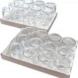 Set 12 recipiente gourmet, din sticla, 200 ml