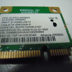 Placa retea Laptop Model Nou Wireless N 802.11 b/n Atheros AR5B93 300 Mbps