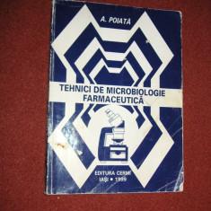 Tehnici de microbiologie farmaceutica - A.Poiata