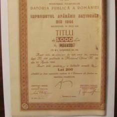 GE - Titlu 5000 lei Imprumutul Apararii Nationale 1944, Romania 1900 - 1950