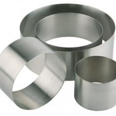 Forma inox rotunda (mousse), Ø 10 x H 4.5 cm