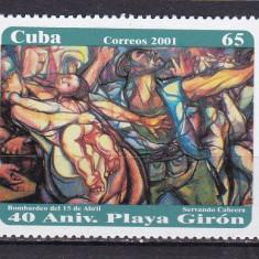Cuba 2001 pictura MI 4344 MNH w26 - Timbre straine, Nestampilat