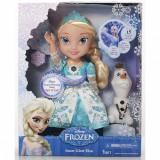 Papusa Elsa Frozen Disney cantareata si omul de zapada Olaf - OKAZIE, Plastic, Fata
