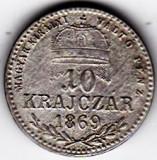 Ungaria Austria 10 Krajczar 1869 K.B. Kormoczbanya XF RARA, Europa