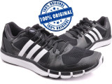 Adidasi barbat Adidas Adipure 360.2 - adidasi originali - running - alergare, 40 2/3, Negru, Textil