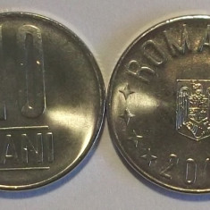 ROMANIA 10 BANI 2016 UNC - LUCIU DE MONETARIE - DIN FISIC DE BANCA **