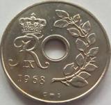 Moneda 25 Ore - DANEMARCA, anul 1968 *cod 2928, Europa