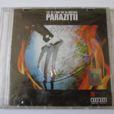CD PARAZITII ALBUMUL TOT CE E BUN TRE SA DISPARA IN TIPLA, CU CARCASA CRAPATA - Muzica Hip Hop cat music