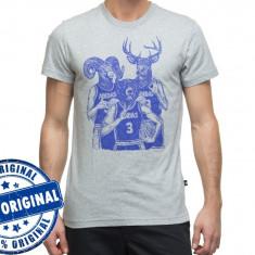 Tricou barbat Adidas Originals Bear BBall - tricou original - Tricou barbati Adidas, Marime: M, Culoare: Gri, Maneca scurta, Bumbac