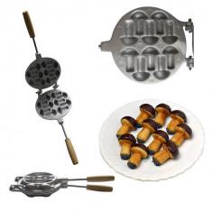 Forma presa prajituri ciupercute - Metal/Fonta