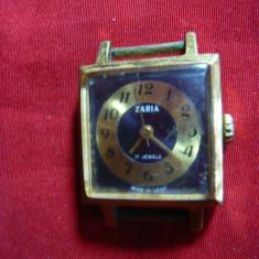 Ceas de dama Zaria, mecanic, functional, anii '70 URSS, 17 rubine, l=2, 3 cm - Ceas dama, Mecanic-Manual, Analog
