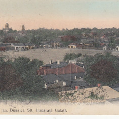 OBORUL DE FAN .BISERICA SFT.IMPARATI. GALATI, CIRCULATA STAMPILA DEC. '906 - Carte Postala Moldova pana la 1904, Printata