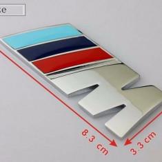 Emblema auto metal pentru BMW M power sport adeziv profesional inclus - Embleme auto