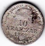 Ungaria Austria 10 Krajczar 1869 Gy.F. Gyulafehervar Alba Iulia RARA, Europa