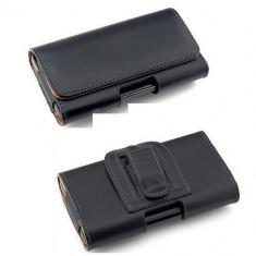 Husa toc negru piele eco atasare curea Iphone 6, 7 4, 7