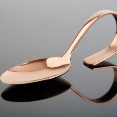Lingura monoportii din inox cu aspect de cupru