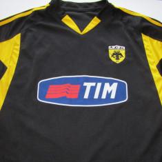 Tricou fotbal AEK ATENA (nr. 21 KATSOURANIS) - Tricou echipa fotbal, Marime: XL, Culoare: Din imagine, De club, Maneca scurta
