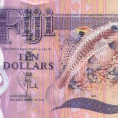 Fiji 10 Dolari (nedatata-circa 2012 ; peste) - P-New UNC !!!