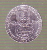 moneda - 20 escudos 1953 Portugalia argint