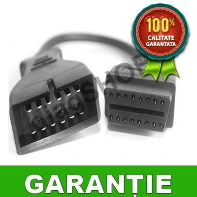 Cablu adaptor Daewoo 12 pin la OBD2 - Mufa interfata / tester diagnoza foto