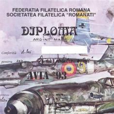 Bnk fil Avia 1993 Deveselu - diploma + plicuri ocazionale + carti postale