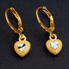 Superbi cercei 9k GOLD FILLED inima - Cercei placati cu aur