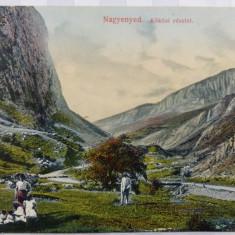 AIUD ( NAGYENYED ) - CHEILE - VALEA SI DRUMUL SPRE RIMETEA ( TOROCKO) -SPLENDIDA - Carte Postala Transilvania 1904-1918, Circulata, Fotografie