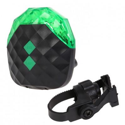 Stop bicicleta cu 5 leduri verzi si 2 lasere foto