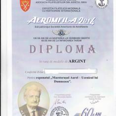 Bnk fil Aerofilatelie - Aeromfila 2014 Sibiu - 2 plicuri ocazionale + diploma
