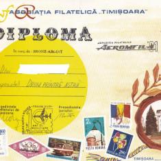 Bnk fil Aeromfila 1991 Timisoara - diploma + plicuri ocazionale