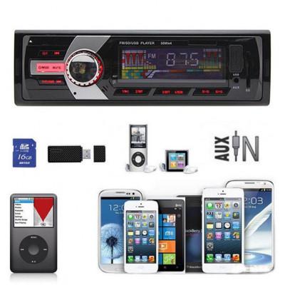 MP3 PLAYER AUTO CU CITITOR STICK USB SI CARD,RADIO FM DIGITAL,4X50w,TELECOMANDA. foto